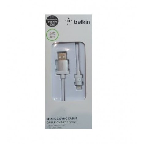 Кабель USB BELKIN iPhone 5/5S (BK025), белый