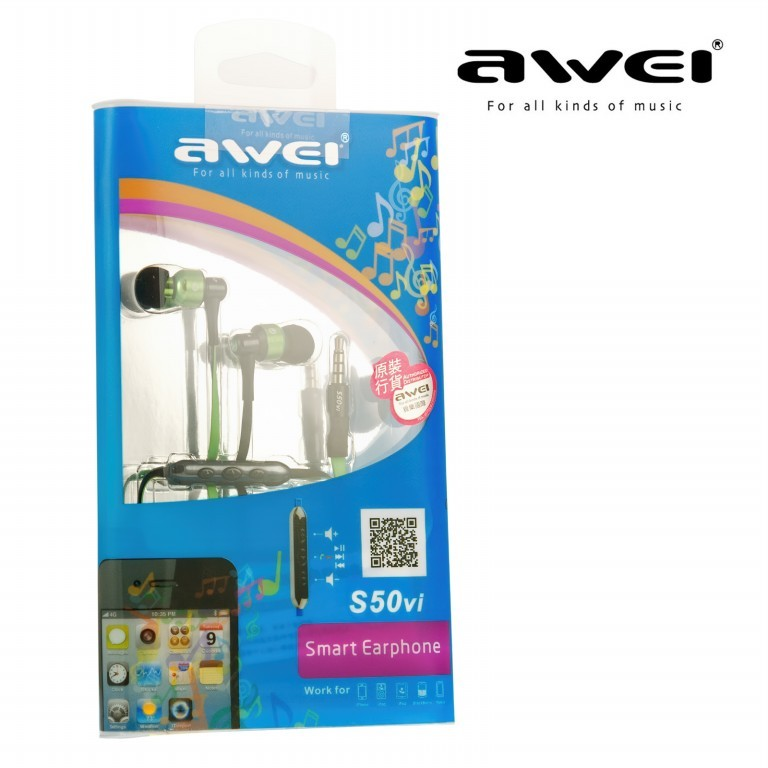 Наушники MP3 AWEI S50vi Mix with remote control for Apple