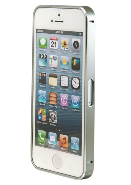 Бампер Metalic Slim iPhone 4/4S, карбоновый