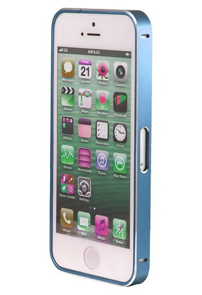 Бампер Metalic Slim iPhone 5/5S, синий