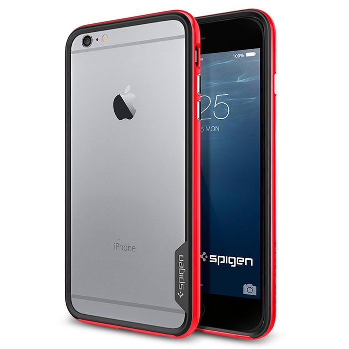 Бампер SGP Spigen Neo Hybrid EX iPhone 6 plus, красный