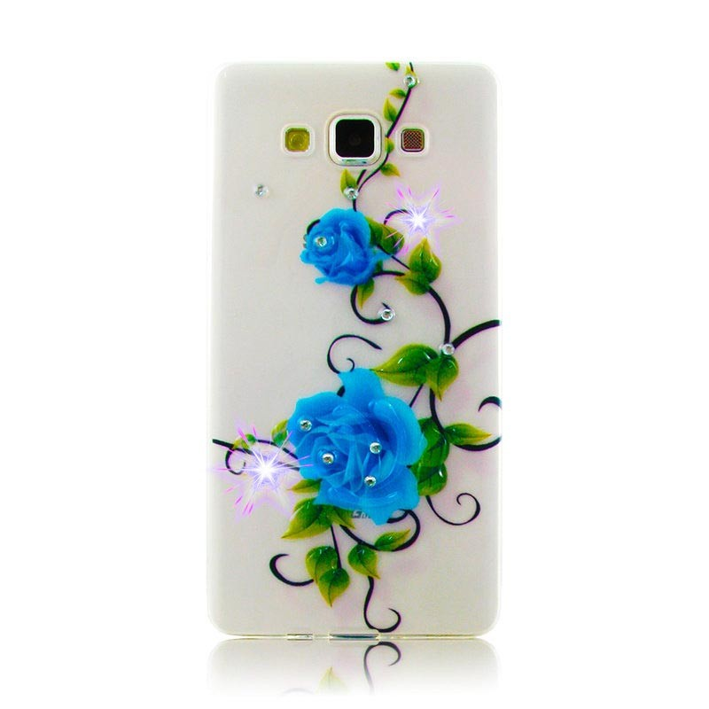 Чехол Diamond Silicone iPhone 4/4S Blue Rose