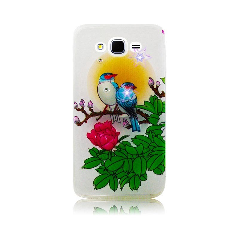 Чехол Diamond Silicone iPhone 5/5S Romantic Birds