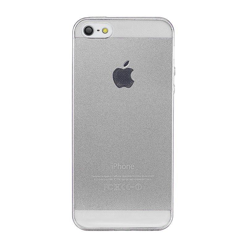 Чехол Ultra Thin Silicon Remax 0.2 mm iPhone 5/5S, белый