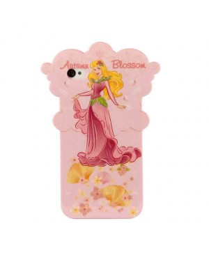 Силиконовый чехол Disney iPhone 4/4S Autumn Blossom Pink