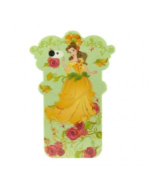 Силиконовый чехол Disney iPhone 4/4S Flower Princess Green