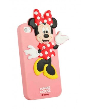 Силиконовый чехол Disney iPhone 4/4S Minnie Mouse Pink
