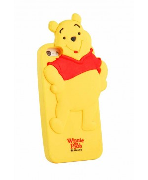 Силиконовый чехол Disney iPhone 4/4S Winnie-the-Pooh Yellow