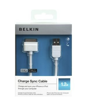 Кабель USB BELKIN iPhone 4/4S, белый