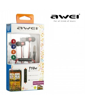 Наушники MP3 AWEI T10vi Red with remote control for HTC