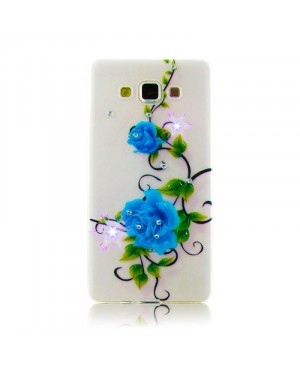 Чехол Diamond Silicone iPhone 5/5S Blue Rose