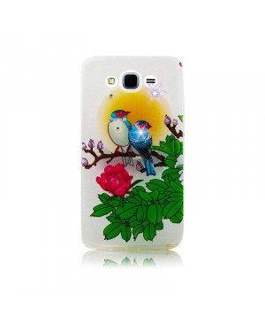 Чехол Diamond Silicone iPhone 4/4S Romantic Birds