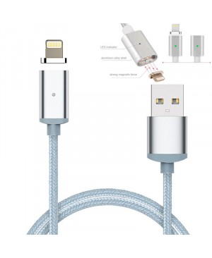 Магнитный usb кабель для iPhone 5, 5S, 6, 6S, 6 Plus, iPad 4, Air, mini
