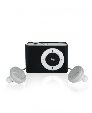 MP3 плеер SLIM Mini Metal Clip, черный