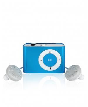 MP3 плеер SLIM Mini Metal Clip, синий