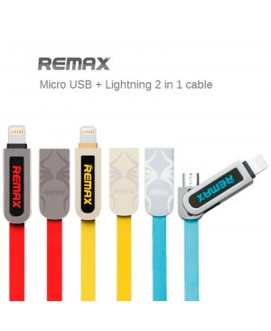 USB кабель Remax Armor RC-067t 2in1 Lightning / Microusb для iPhone 5 / Android