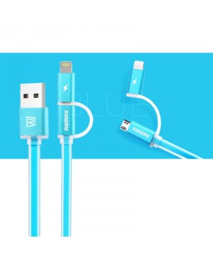 USB кабель Remax Aurora 2в1 Lightning / Microusb для iPhone 5 / Android