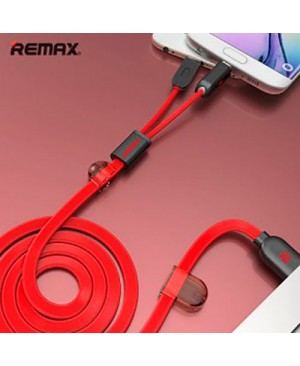 USB кабель Remax Binary RC-025t 2in1 Lightning / Microusb для iPhone 6 / Android