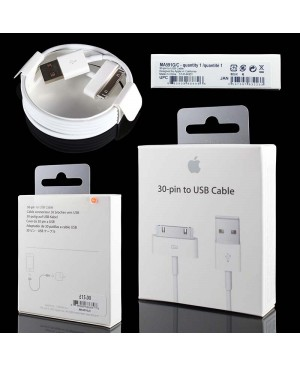 Оригинальный usb кабель для iPhone 4/4S/3G/3GS, iPad 3/2/1 Apple 30-pin to USB (1м) (MA591FE/B)