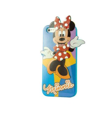 Силиконовый чехол Disney iPhone 4/4S Minnie Mouse Blue
