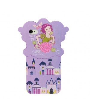 Силиконовый чехол Disney iPhone 4/4S Snow White Purple