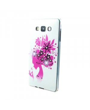 Чехол Diamond Silicone Samsung Flower Lady