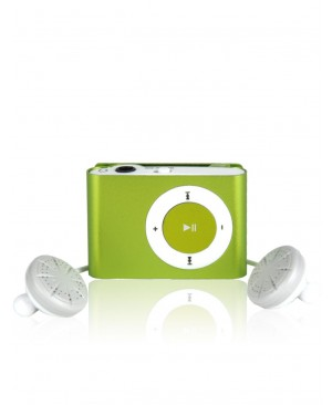 MP3 плеер SLIM Mini Metal Clip, зеленый